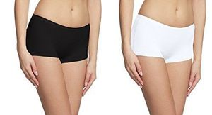 KavJay's Combo Of Black And White Women's Boyshort Boxer cum Briefs Free Size Panty(PACK OF 2)