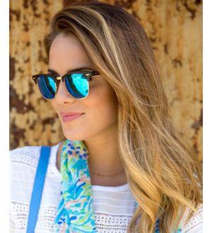 Sunglasses Royal Blue Aqua Clubmaster For Unisex