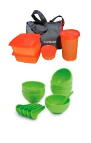 Lunch Box set Combo pack Topware with Soup Bowl & Spoons