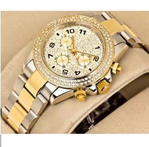 Golden And Grey Silver Metal Fancy Watch For Men