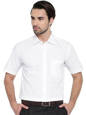 INDHIRAN Solid Regular Fit Cotton Men's Formal Shirt PGVIPHS