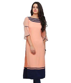 Shree woe pitch colour pure Georgette long kurti