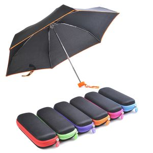 Folding umbrella with square case