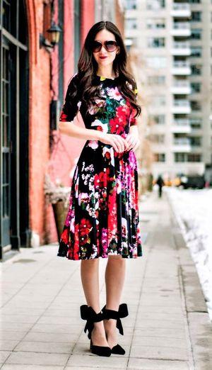 MULTI FLOWER KALARAV DRESS