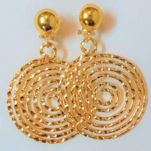 Designer Gold Spiral Earrings