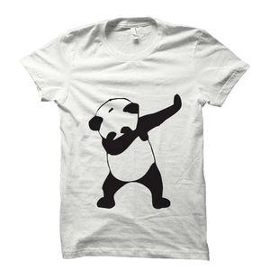 Dab Panda White Tshirt