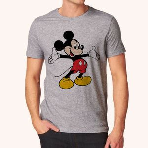 Mickey Mouse Style Grey Tshirt