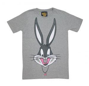 I Am Back Animal Print Men's Round Neck Grey T-Shirt