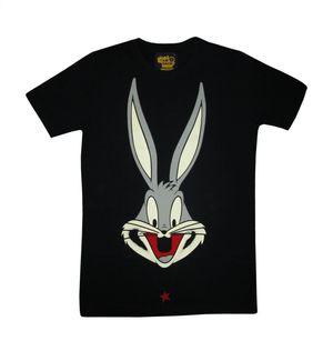 I Am Back Animal Print Men's Round Neck Black T-Shirt