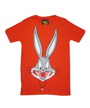 I Am Back Animal Print Men's Round Neck Orange T-Shirt