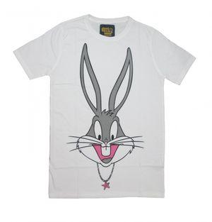 I Am Back Animal Print Men's Round Neck White T-Shirt