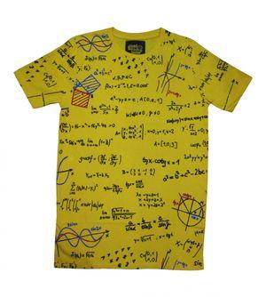 I Am Back Printed Men's Round Neck Yellow T-Shirt