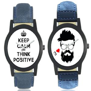 MISS PERFECT NEW Denim Print Luxury New collection Men Watch Combo Analog Watch - For Men