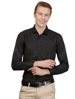 Van Galis Fashion Wear Black Formal Shirt For Men