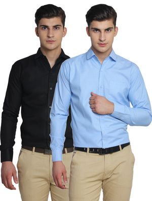 Van Galis Fashion Wear Combo Of 2 Formal Shirt For Men_14