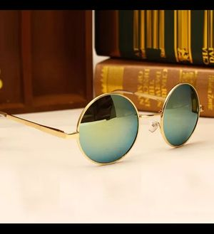Kraftly Special Royal C-065 New Fashion Sunglasses Round Frame Golden Mercury Goggles