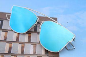 Silver Blue Stylish Sunglasses for Men