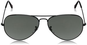 Royal and luxurious look Sunglasses Aviator Black Glass Black Frame