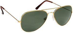 Stylish Golden Green Aviator Sunglasses