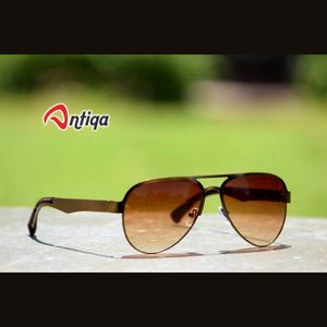 Antiqa Stylish Sunglasses Aviator Brown Shade Goggles (AQ-SG-AV-A-0005)