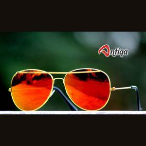 Antiqa Stylish Sunglasses Aviator Orange Mercury Goggles (AQ-SG-AV-A-0007)