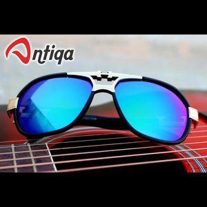Antiqa Stylish AVIATOR Sunglasses Blue Mercury Goggles (AQ-SG-AV-C-0001)