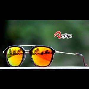 Antiqa Stylish Primium Sunglasses Orange Mercury Goggles (AQ-SG-PC-A-0005)