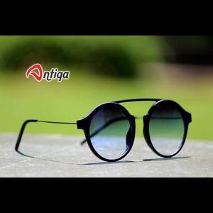 Antiqa Stylish Round Sunglasses Green Shade Goggles (AQ-SG-RD-A-0003)