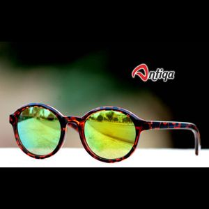 Antiqa Stylish Round Sunglasses Yellow Mercury Goggles (AQ-SG-RD-A-0004)