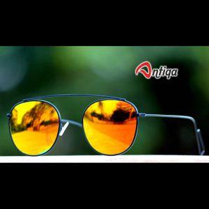 Antiqa Stylish Round Sunglasses Yellow Mercury Goggles (AQ-SG-RD-A-0007)
