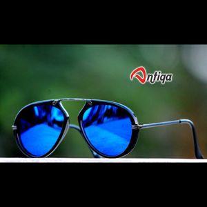 Antiqa Stylish Round Sunglasses Blue  Mercury Goggles (AQ-SG-RD-A-0011)