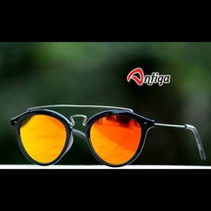 Antiqa Stylish Round Sunglasses Yellow Mercury Goggles (AQ-SG-RD-A-0012)