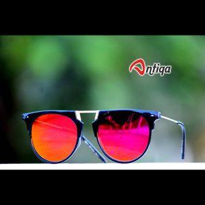 Antiqa Stylish Round Sunglasses PInk Mercury Goggles (AQ-SG-RD-A-0023)