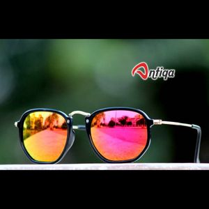 Antiqa Stylish Round Sunglasses Pink Mercury Goggles (AQ-SG-RD-A-0025)
