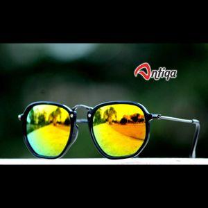 Antiqa Stylish Round Sunglasses Yellow Mercury Goggles (AQ-SG-RD-A-0027)