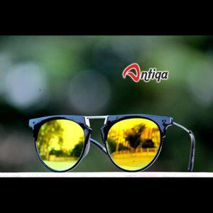 Antiqa Stylish Round Sunglasses Yellow Mercury Goggles (AQ-SG-RD-A-0028)