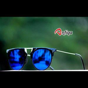 Antiqa Stylish Round Sunglasses Blue Mercury Goggles (AQ-SG-RD-A-0029)