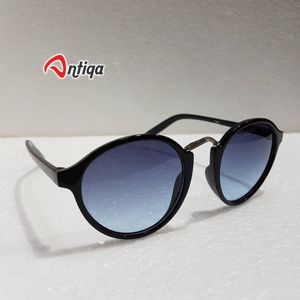 Antiqa Stylish Round Sunglasses White Shade Goggles (AQ-SG-RD-A-0031)