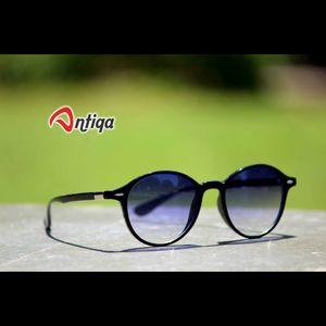Antiqa Stylish Round Sunglasses White Shade  Goggles (AQ-SG-RD-A-0033)