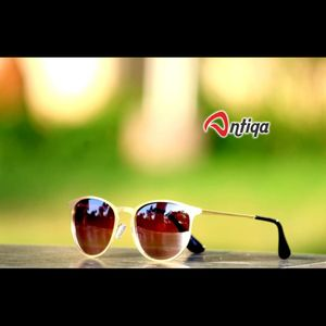 Antiqa Stylish Round Sunglasses Brown shade Goggles (AQ-SG-RD-C-0006)