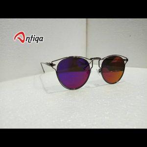 Antiqa Stylish Round Sunglasses Purple Mercury Goggles (AQ-SG-RD-D-0005)