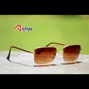 Antiqa Stylish SQUARE Sunglasses Brown Shade Goggles (AQ-SG-SQ-A-0006)