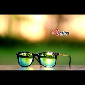 Antiqa Stylish SQUARE Sunglasses Green Mercury Goggles (AQ-SG-SQ-B-0001)