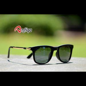 Antiqa Stylish SQUARE Sunglasses Green Shade Goggles (AQ-SG-SQ-B-0006)