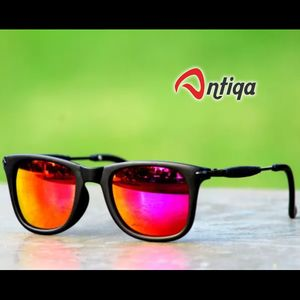 Antiqa Stylish Square Sunglasses Yellow Mercury Goggles (AQ-SG-SQ-C-0016)