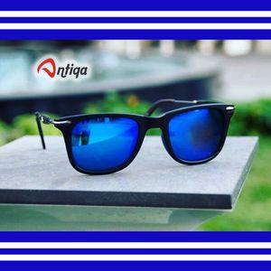 Antiqa Stylish Sunglasses Aqua Blue Square Fancy Trendy Goggles For Unisex (AQ_SG_1001)