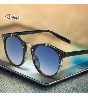 Antiqa Stylish Sunglasses Round Blue Goggles New Design For Unisex (AQ_SG_1009)