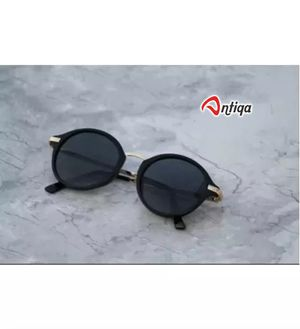 Antiqa Stylish Sunglasses Round Black Goggles (AQ_SG_1018)