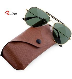 Antiqa Stylish Sunglasses Aviater Goggles With Leather Cover (AQ_SG_1023)