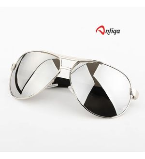Antiqa Stylish Sunglasses New Design Avaitor Silver Mercurey Goggles For Men (AQ_SG_1025)